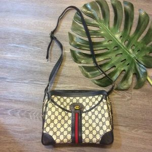 🌷 Vintage Crossbody bag Gucci print cute purse